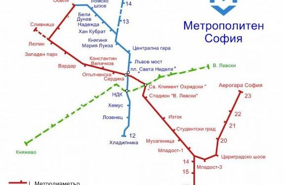 Аэропорт Софии через метро соединили и с железной дорогой