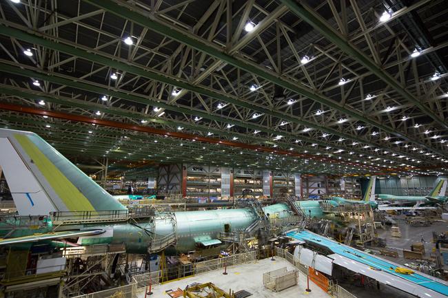 Цех сборки Boeing 747