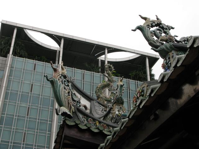 Сингапур. В китайском храме Тиан-Хок-Кенг