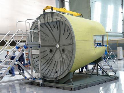 """На """"Авиастар-СП"""" изготовили подкилевой отсек для МС-21"""
