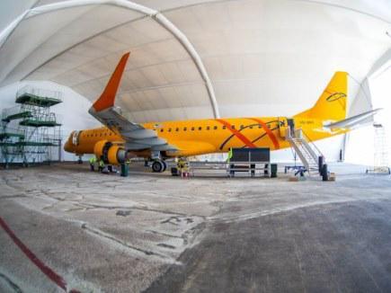 """""""Саратовские авиалинии"""" провели первый самостоятельный A-check самолета Embraer E195"""