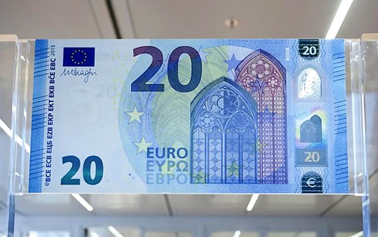 Вводится новая банкнота в 20 евро